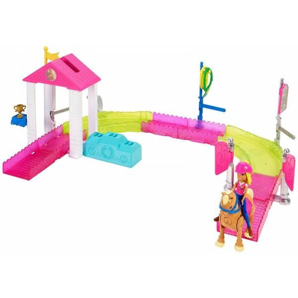 Barbie Набор On the GO Веселые гонки Pony Race Track Playset FHV66