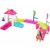 Barbie Набор On the GO Веселые гонки Pony Race Track Playset FHV66, фото 1