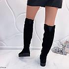 Зимние женские сапоги черного цвета, натуральная замша 37 ПОСЛЕДНИЙ РАЗМЕР, фото 4