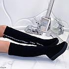 Зимние женские сапоги черного цвета, натуральная замша 37 ПОСЛЕДНИЙ РАЗМЕР, фото 5