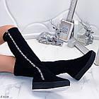 Зимние женские сапоги черного цвета, натуральная замша 37 ПОСЛЕДНИЙ РАЗМЕР, фото 7