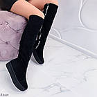 Зимние женские сапоги черного цвета, натуральная замша 37 ПОСЛЕДНИЙ РАЗМЕР, фото 8