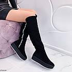 Зимние женские сапоги черного цвета, натуральная замша 37 ПОСЛЕДНИЙ РАЗМЕР, фото 9