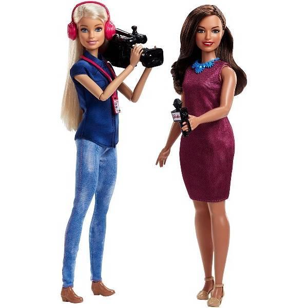 Barbie Барби команда новостей Careers TV News Team Dolls