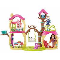 Enchantimals Игровой набор с куклой Прю Панда и Лесной замок Panda Tree House Playset