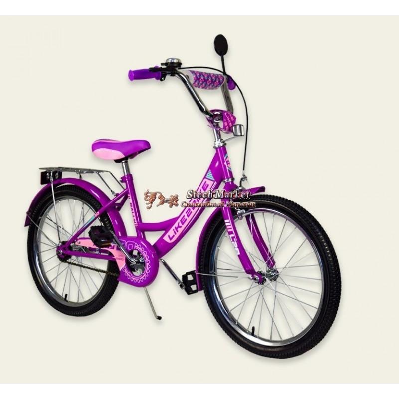 """Велосипед 2-х колёс 20"""" 192017 Like2bike RALLY, фиолетовый, без тренировочных колёс"""
