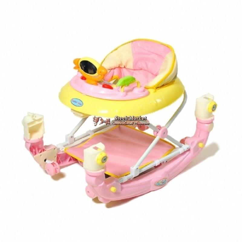 Ходунки Baby Tilly 9102 розовые с качалкой