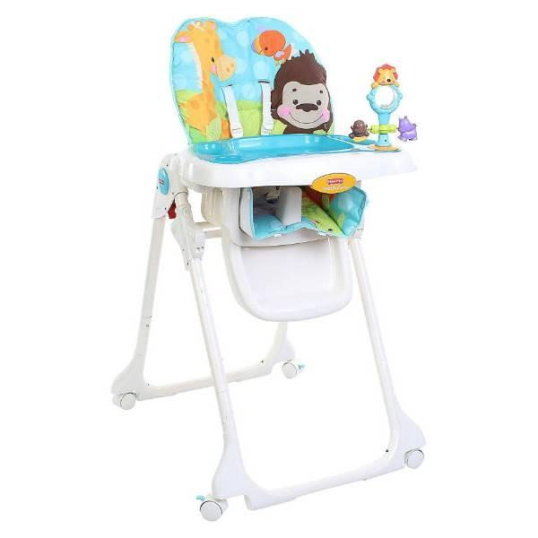 Fisher-Price Детский высокий стульчик для кормления Голубая планета Precious Planet Teal High Chair T1455