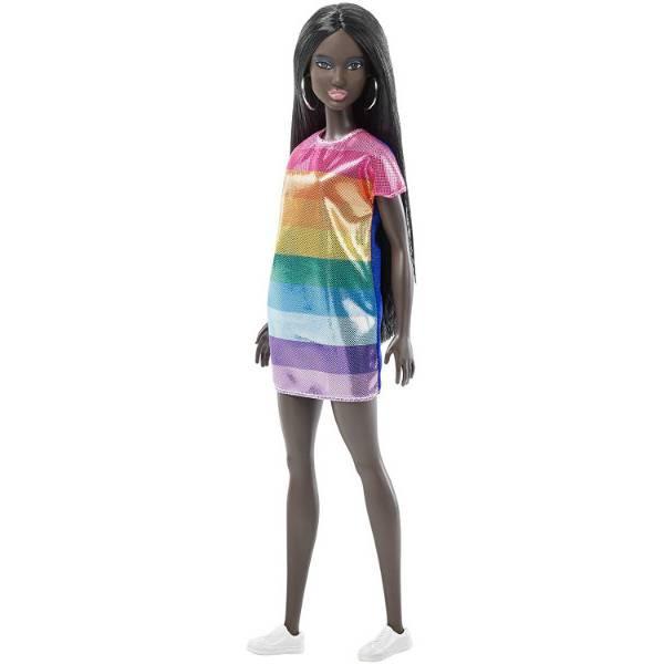 Barbie Барби темнокожая модница радуга Fashionistas 90 Rainbow Bright Doll