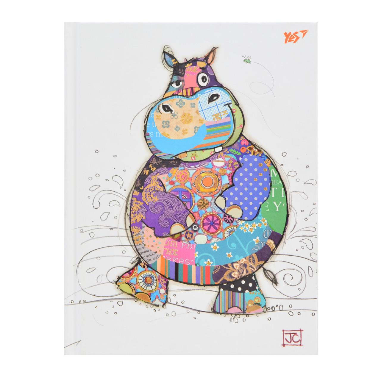 "Блокнот А5/96 КЛ. 7БЦ, фольга золото+Уф.выб. ""BugArt. White hippo"" YES     код: 151383"
