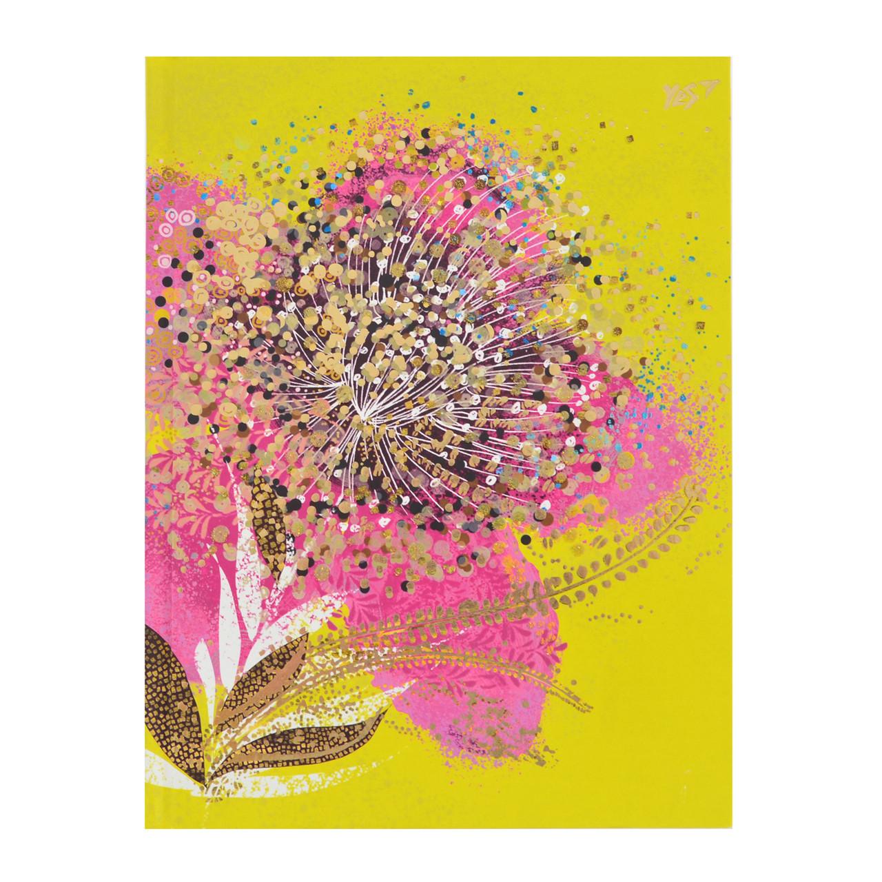 Блокнот А5/64 КЛ. интег., фольга золото+глиттер золото Opium. Flower YES код: 151385