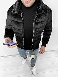 😜 Парка - Мужская куртка вискоза с черным воротником