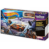 Hot Wheels Стражи Галактики Marvel Guardians of the Galaxy Rocket's Talespin Takedown Track Set, фото 2