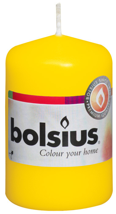 Свеча цилиндр желтая bolsius 8 см (50/80-010Б)