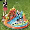 Игровой бассейн Вулкан с горкой, подушкой, кольцом и 4 шариками Bestway 53069 265 х 265 х 104 см, фото 5