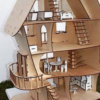 Эксклюзивный фанерный сказочный домик для кукол лол LOL, Монстерхай, Лалалупс, Винкс, Братц. Кукольный домик.