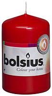 Свеча цилиндр красная bolsius 8 см (50/80-030Б)