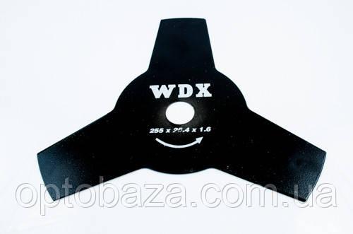 Нож 3-х зубый WDX для бензиновой мотокосы, фото 2