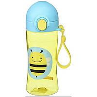 Skip Hop Zoo Спортивный поильник бутылочка Пчелка Bee Lock-Top Sports Bottle, фото 1