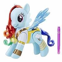 My Little Pony Интерактивная пони Радуга Рейнбоу Дэш Вихрь пират The Movie Flip Whirl Pirate Rainbow Dash, фото 1