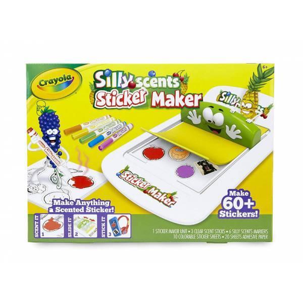 Crayola Творческий набор Создай ароматизированные наклейки Silly Scents Sticker Maker