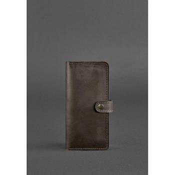 Кожаное женское портмоне 7.0 Темно-коричневое
