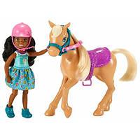 Barbie Барби Набор клуб Челси и пони Club Chelsea Dolls & Horse, фото 1
