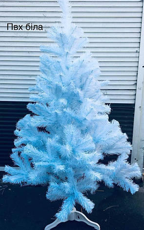 Новогодняя Елка ПВХ Белая Сказка 1 м + тренога, фото 2