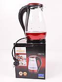 Электрочайник стеклянный с подсветкой Crownberg CB 9114, 1.7L