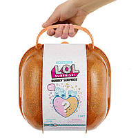 Кукла и питомец Лол оранжевый шипучий Чемодан кейс сюрпризов L. O. L. Bubbly Surprise Orange lol оригинал MGA