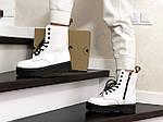 Женские зимние ботинки Dr. Martens Jadon (белые), фото 5