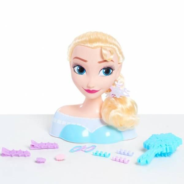Disney Голова манекен для причесок принцесса Эльза Frozen Frozen Basic Elsa Styling Head