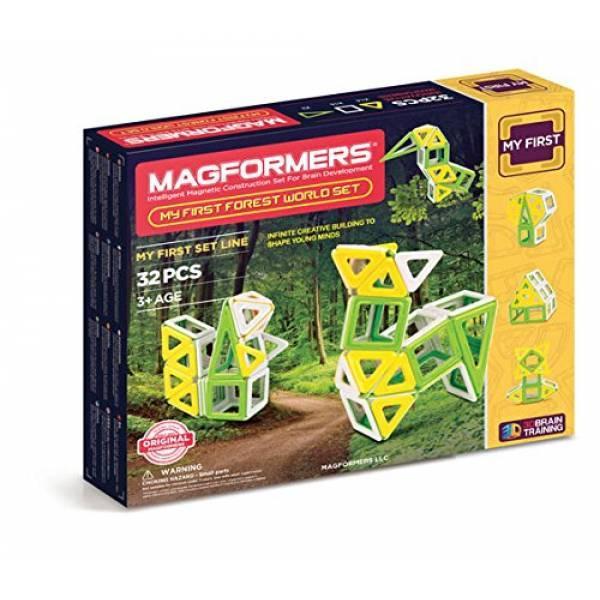 Magformers Магнитный конструктор 32 детали Мой первый лесной мир 02009 My First Forest World Set