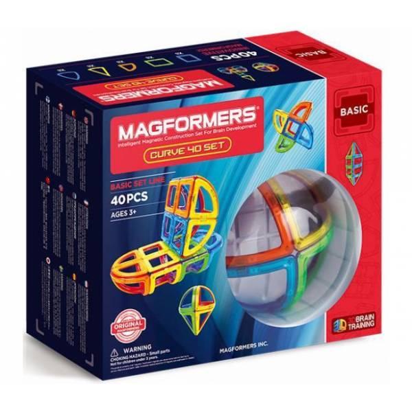 Magformers Магнитный конструктор 40 деталей Базовый набор дуга 701011 Curve Basic set