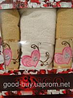 Комплект полотенец Tango 100% хлопок, махра - 2 лицо + баня Tурция n34 -1
