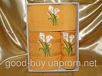 Комплект полотенец Yagmur махра - салфетка + лицо + баня Турция н4 -1