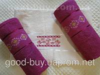 Комплект полотенец Tropicana Vip catton махра - 2 лицо + баня Tурция 056 -1