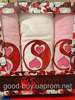 Комплект полотенец Tango 100% хлопок, махра - 2 лицо + баня Турция n33 -1