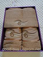 Комплект полотенец Pure Bath Collection махра - салфетка + лицо + баня Турция 070 -1