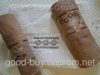 Комплект полотенец Tropicana Vip catton махра - 2 лицо + баня Tурция 057 -1