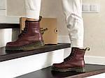 Женские зимние ботинки Dr. Martens 1460 (марсала), фото 2