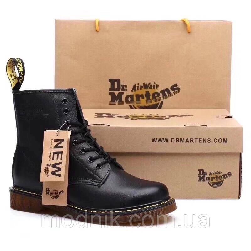 Женские зимние ботинки Dr. Martens 1460 (черные)