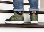 Мужские кроссовки Nike Lunar Force 1 Duckboot (темно-зеленые с черным), фото 2