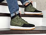 Мужские кроссовки Nike Lunar Force 1 Duckboot (темно-зеленые с черным), фото 3