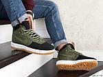 Мужские кроссовки Nike Lunar Force 1 Duckboot (темно-зеленые с черным), фото 4