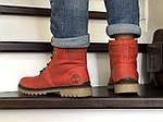 Мужские зимние ботинки Timberland (темно-красные), фото 2