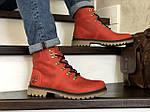 Мужские зимние ботинки Timberland (темно-красные), фото 3