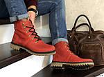 Мужские зимние ботинки Timberland (темно-красные), фото 4