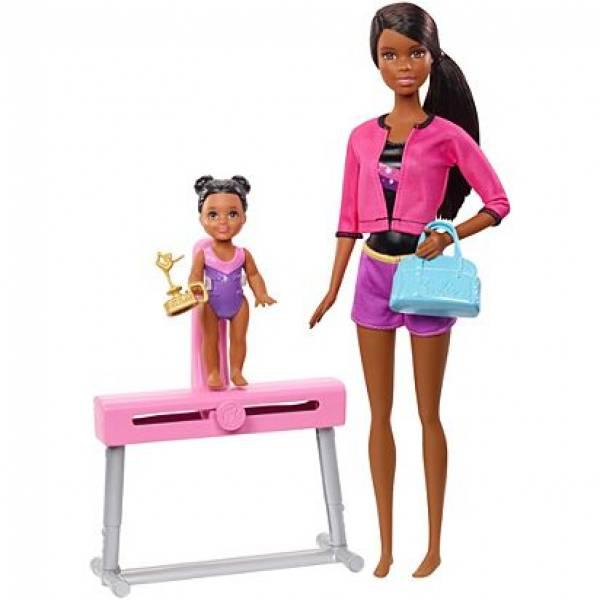 Barbie Барби Тренер по гимнастике афроамериканка FXP40 Gymnastics Coach Doll Playset