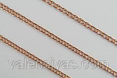 Позолоченная  цепочка из серебра 925 пробы